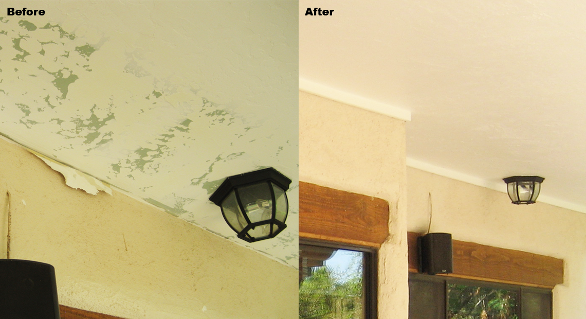 Before and After Ceiling Repair